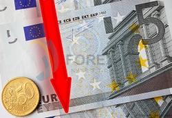 Евро упал к рублю